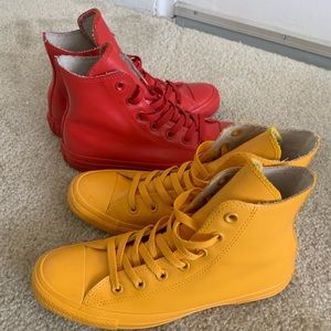 CHUCK TAYLOR ALL STAR RUBBER HI Red and Honey Wild